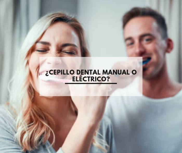 ¿Cepillo dental manual o eléctrico?